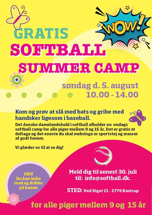 Pigesoftball sommer campdag med damelandsholdet